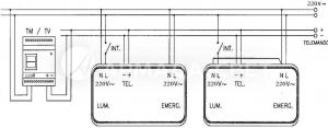 Схема подключения светильников с люминесцентными лампами комбинированного типа работы