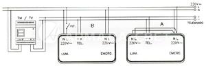 Схема подключения светильников с люминесцентными лампами постоянного типа работы