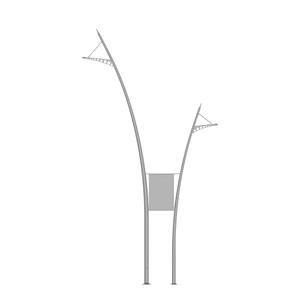 Тип SAL DB-1/DB Алюминиевые декоративные опоры