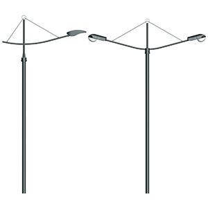 Серия 4 – «Ладья» Кронштейны для консольных светильников