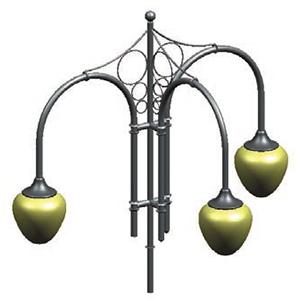 Серия 8 – «Ретро» Кронштейны для подвесных светильников