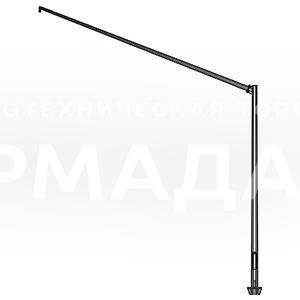 Светофорная стойка предназначена для размещения светосигнального оборудования, дорожных знаков, информационных табличек и указателей. Она состоит из вертикального ствола и наклонной консоли, которая может удерживать оборудование над проезжей частью.