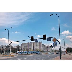 TuboTraffic BTR Трубчатые ворота для светофора с освещением дороги