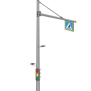 ОКСГ-8,5 Круглоконические светофорные стойки контрастного освещения