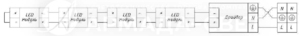 Схема электрических соединений для светильников без сквозной проводки