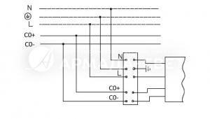 Схема подключения светильника к питающей сети с регулируемым драйвером по системе 1-10 V