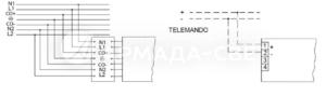 Схема подключения светильника к питающей сети с регулируемым драйвером по системе 1-10 V и блоком резервного питания