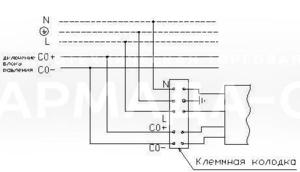 Схема подключения с управл. по протоколу DALI