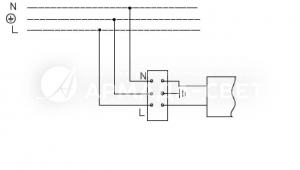Схема подключения светильника к питающей сети